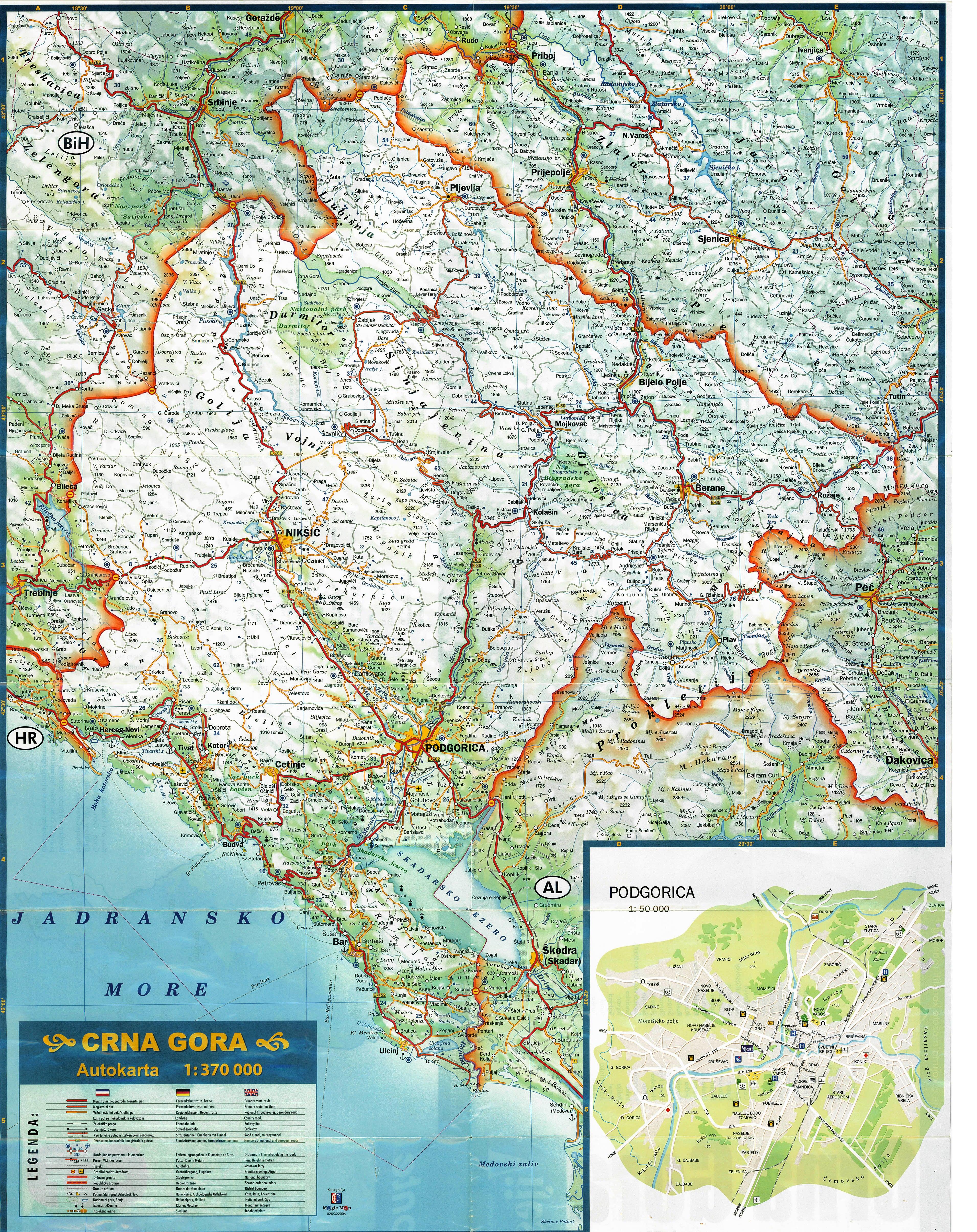 auto karta crne gore Visit Montenegro   Adria Line DMC auto karta crne gore