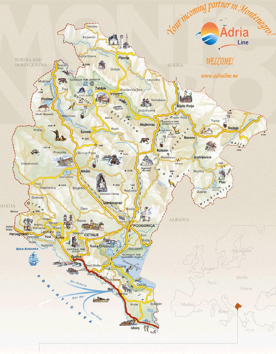 ada bojana crna gora mapa Ada Bojana Island   Montenegro ada bojana crna gora mapa