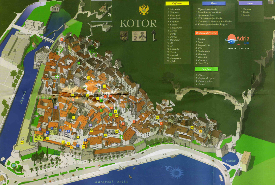 Kotor Montenegro Karte.Kotor Reiseagentur Adria Line Dmc Montenegro