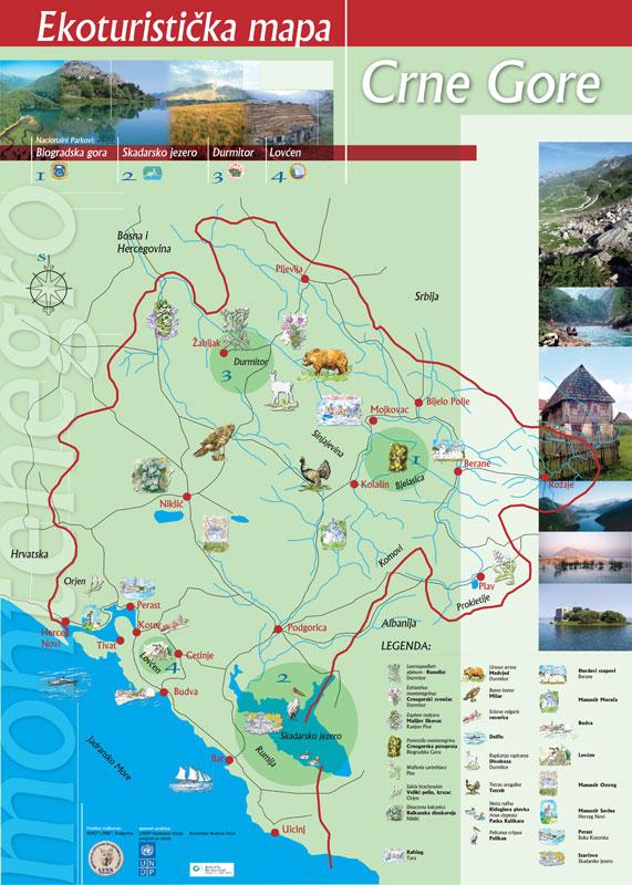 mapa crne gore dobre vode Travel agency Adria Line DMC Montenegro   Visit Montenegro mapa crne gore dobre vode
